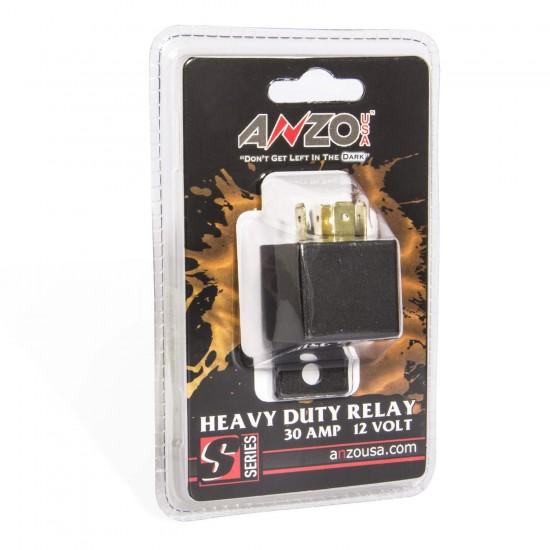 ANZO 12V 30 Amp Relay Universal 12 Volt DC 30 Amp Relay 851063