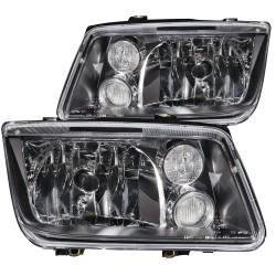 ANZO 1999-2005 Volkswagen Jetta Crystal Headlights Black w/o Bulbs