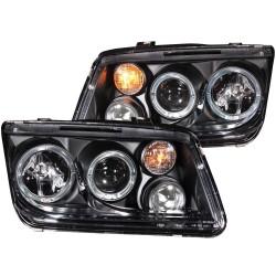 ANZO 1999-2005 Volkswagen Jetta Projector Headlights w/ Halo Black (CCFL)