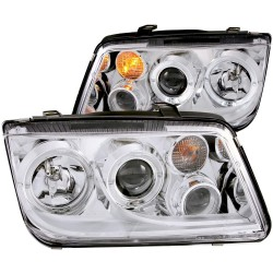 ANZO 1999-2005 Volkswagen Jetta Projector Headlights w/ Halo Chrome (CCFL)