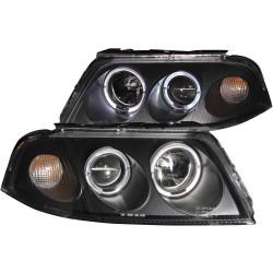 ANZO 2001-2005 Volkswagen Passat Projector Headlights w/ Halo Black