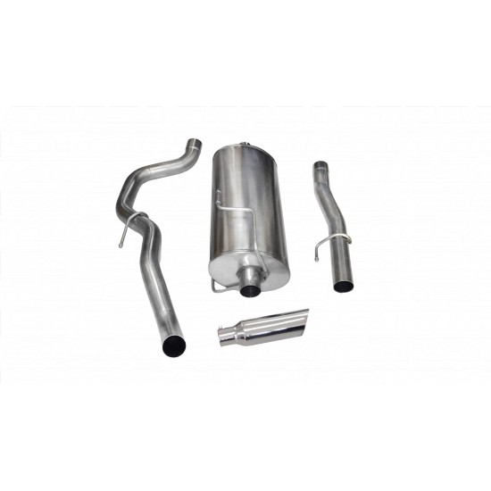 Corsa Performance  3.0 Inch Cat-Back Sport Single Side Exit Exhaust 4.0 Inch Slash Cut Polished Tip 10-13 Ram 2500 Crew Cab/Short Bed 5.7L V8 149 Inch WB Stainless Steel dB by Corsa Performance