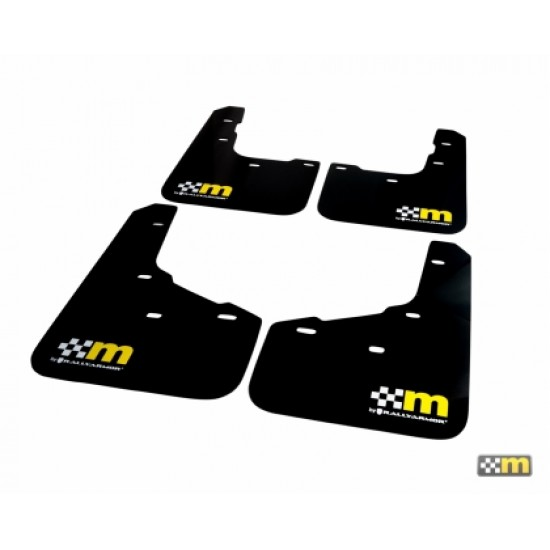 Mountune 13-18 Ford Focus ST/RS Mud Flap Set - Yellow