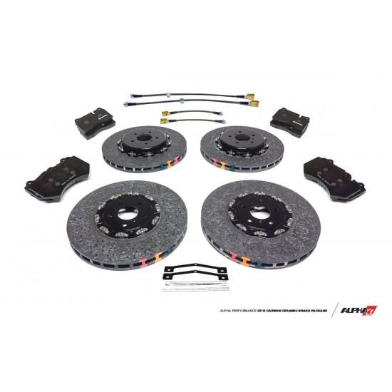 AMS Nissan R35 GT-R Carbon Ceramic Brake Kit Upgrade 393/380 2012+ DBA ALP.07.01.0102-2