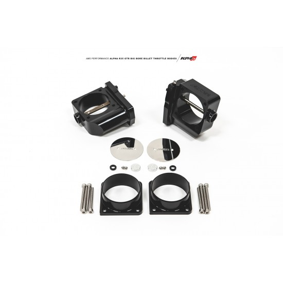 AMS ALPHA Performance R35 GT-R CNC Big Bore Throttle Body Set (With Vibrant HD Flanges) ALP.07.08.0006-4