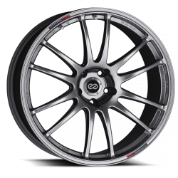 Enkei GTC01 20x8.5 5x120 43mm Offset 75mm Bore Hyper Black Wheel