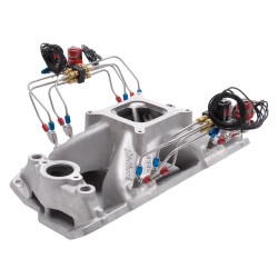 Edelbrock Intake Manifold, Pre-Plumbed Nitrous, Super Victor, Chevrolet, 262-400 c.i.d V8