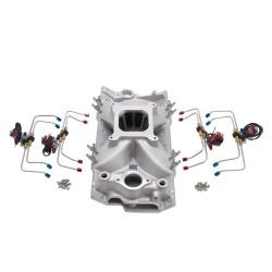 Edelbrock Intake Manifold, Pre-Plumbed Nitrous, Victor Jr, Chevrolet , 262-400 c.i.d V8