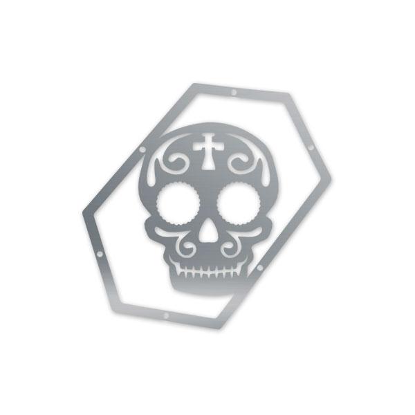 Skull Krushers Jeep JK Wing  Logo Sugar Skull 07-18 Wrangler JK 2/4 Door Aluminum