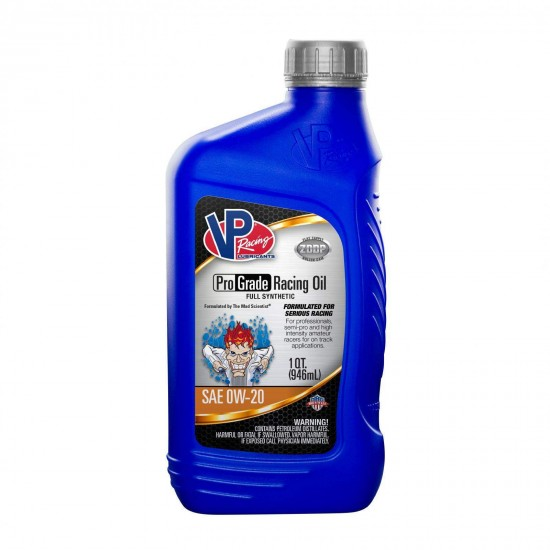 0W 20 Synthetic Oil Full Synthetic Pro Grade Racing Oil Case Of 12 Quarts of 2715 VP Racing Fuels